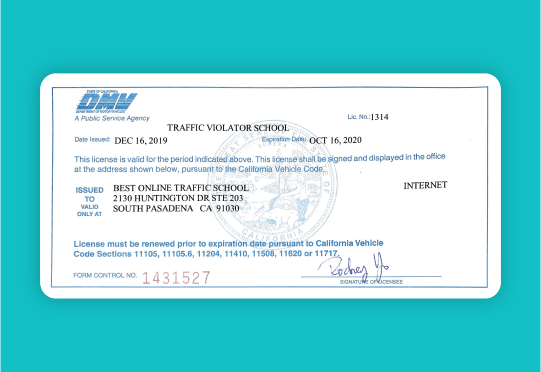 best online traffic school dmv license