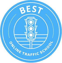 best online traffic school logo blue