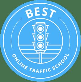 best online traffic school logo blue