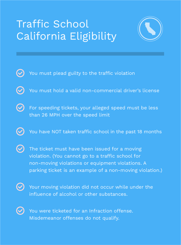 Traffic School California Eligibility